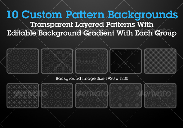 GraphicRiver Custom Pattern Backgrounds Pack 1 31624