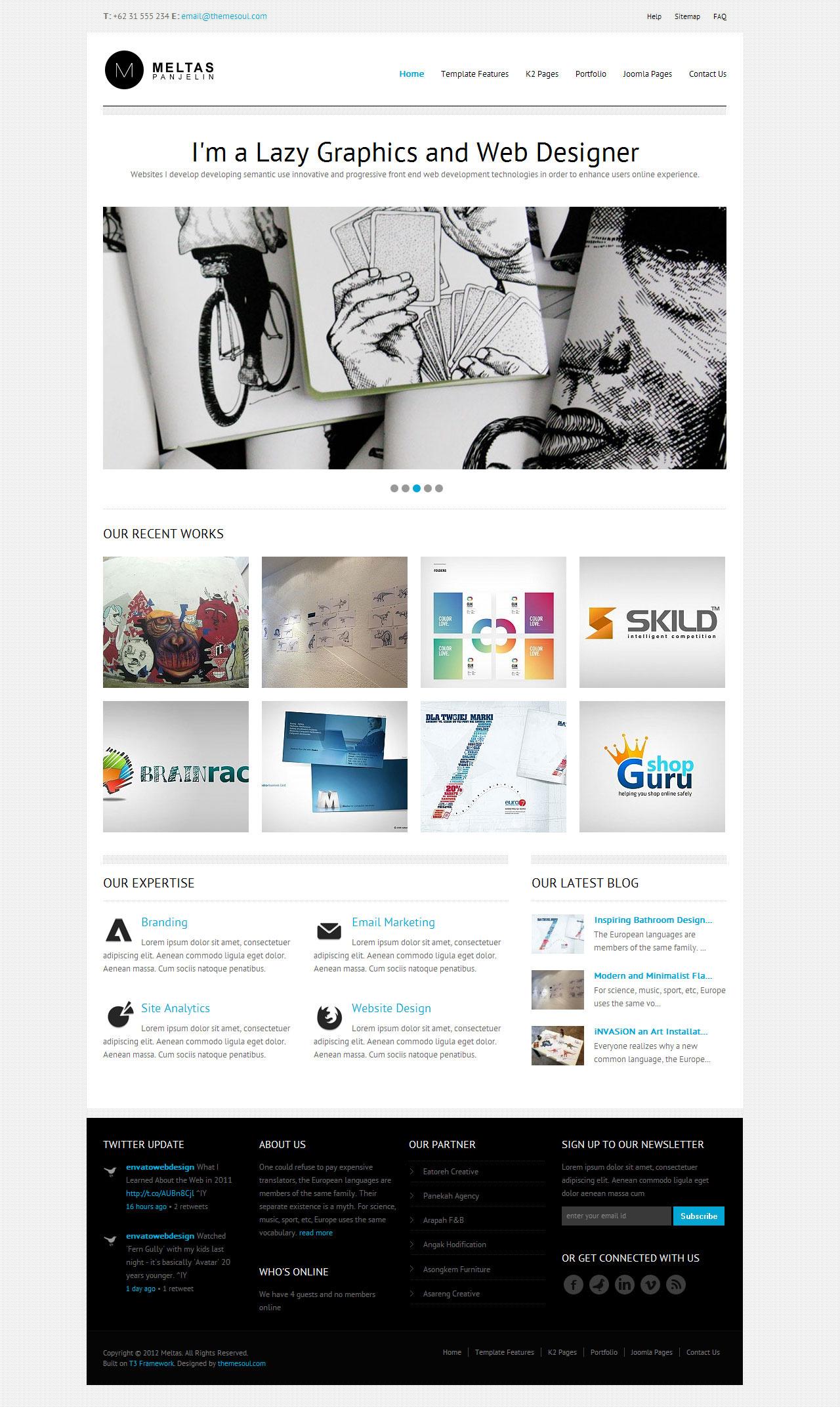 Meltas - Clean and Minimalist Joomla Templates