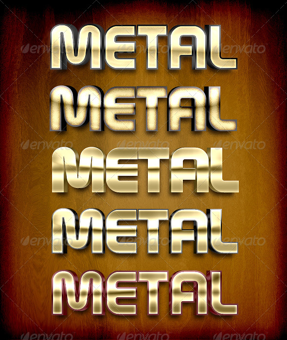 GraphicRiver Metal Styles 155283
