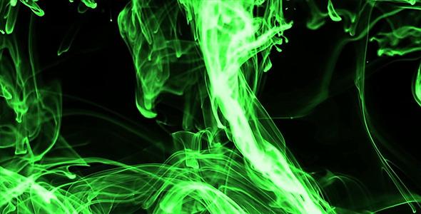 Neon green bedroom