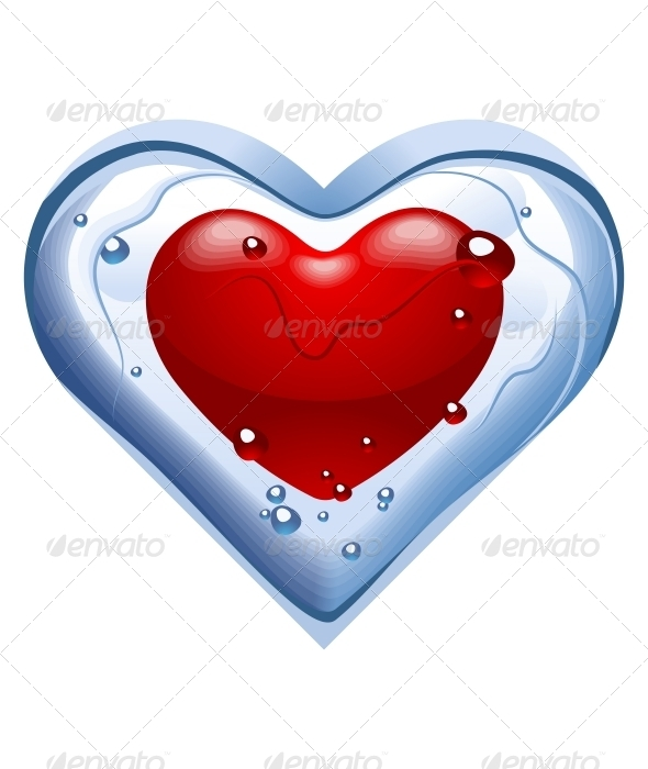 Heart. Thawing ice - Valentines Seasons/Holidays