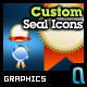 Custom Seal Icons - GraphicRiver Item for Sale