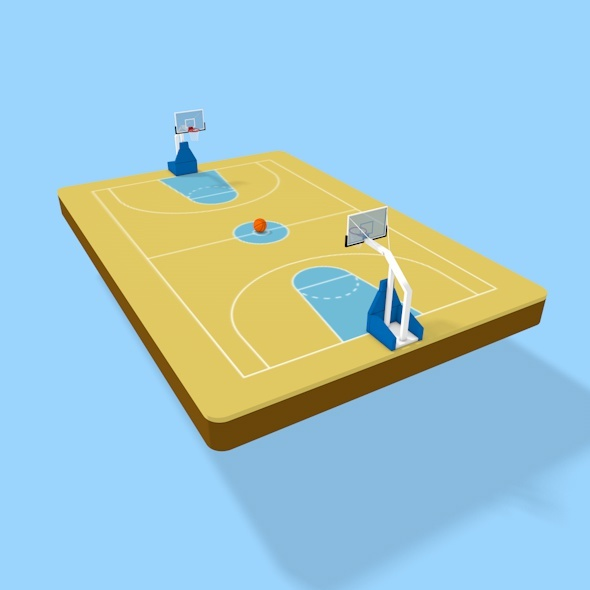 3D Basketball court - 3DOcean Item for Sale