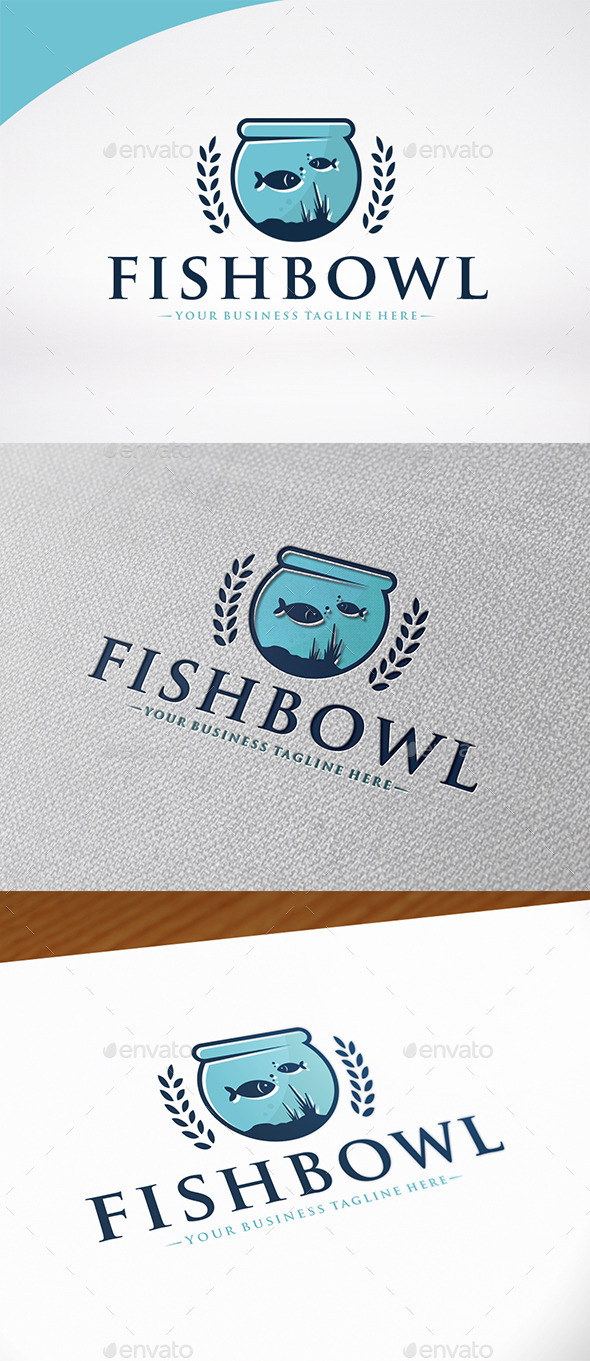 Fish Bowl Logo Template