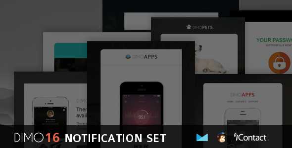 Dimo -16 Email Notification Template Set + Online Access