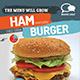 Hamburger Menu Flyer