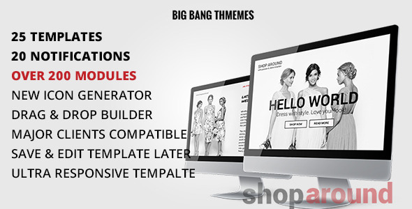 Download ShopAround - Multipurpose Email + Builder Access nulled download