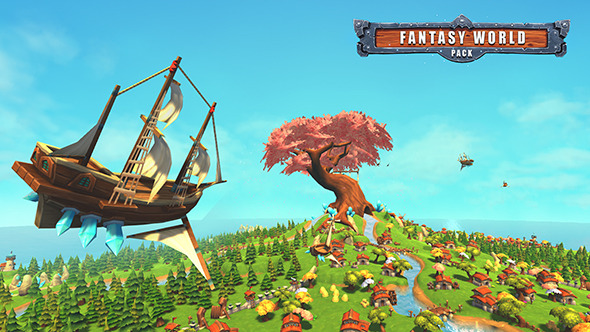 Fantasy World Pack Low Poly - 3DOcean Item for Sale