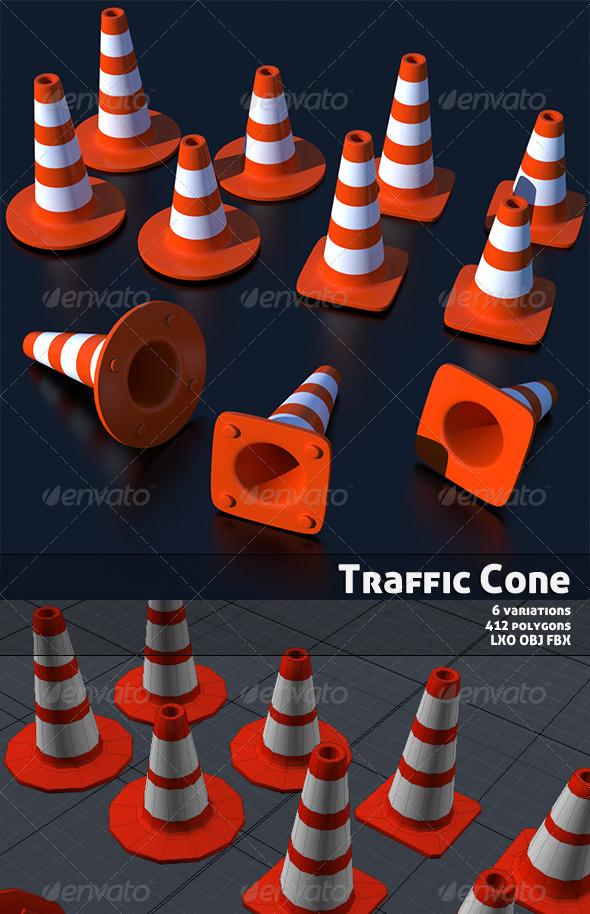 3DOcean Traffic Cone 155398