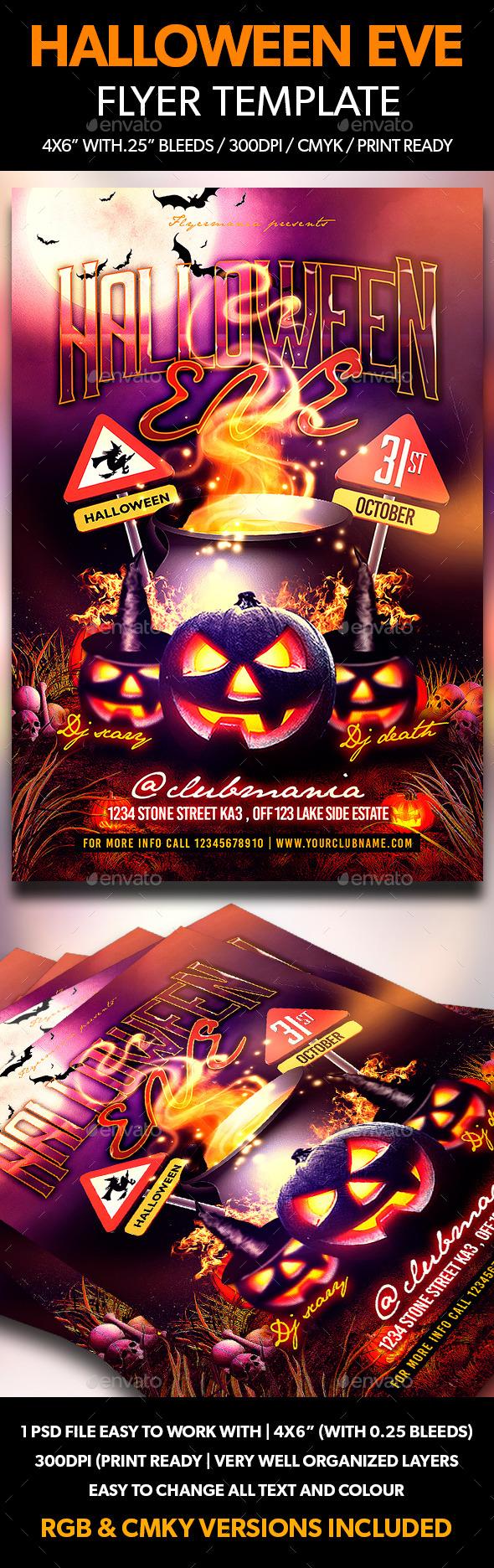 Halloween Eve Flyer Template