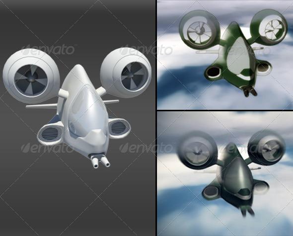 3DOcean 3D Airship 155404