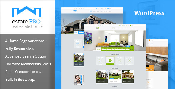 10 - Estate Pro - Real Estate WordPress Theme
