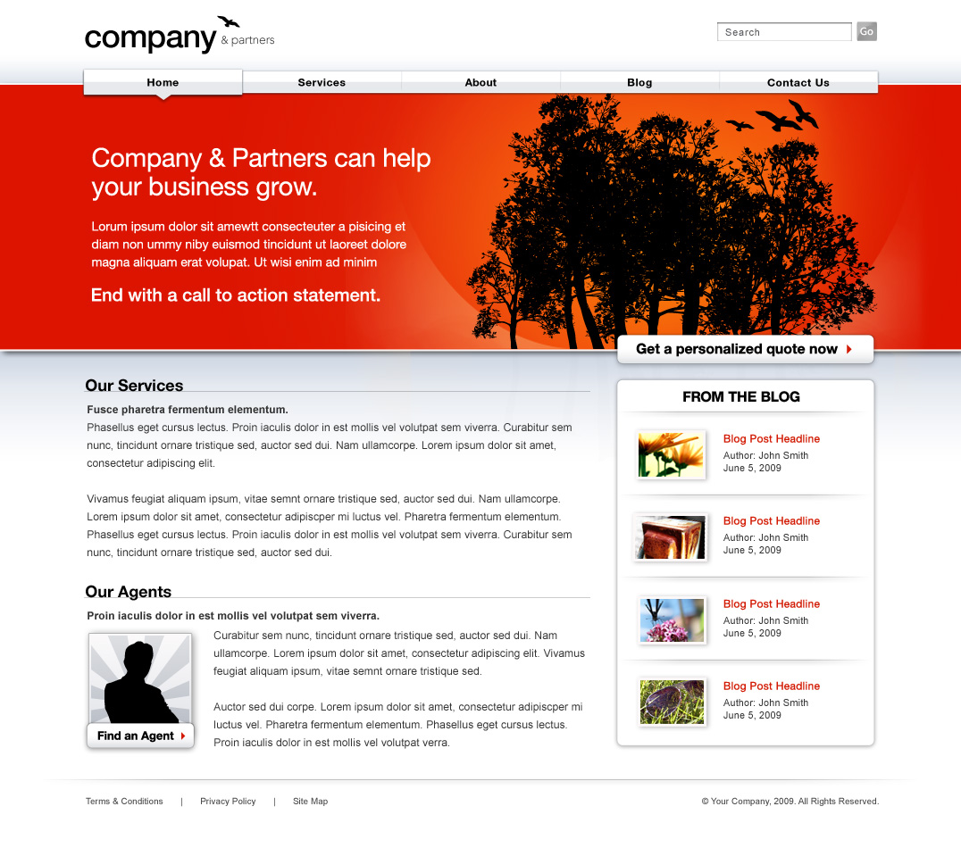 Company Red - Professional Web Templates