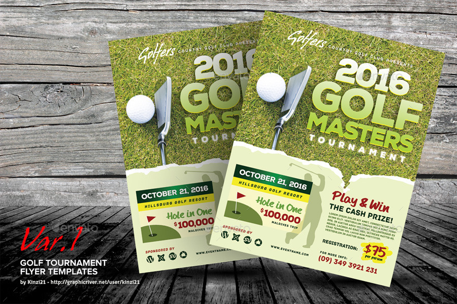 Golf Tournament Flyer Template  SaveBtsaCo