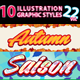 10 Illustrator Graphic Styles Vol.22