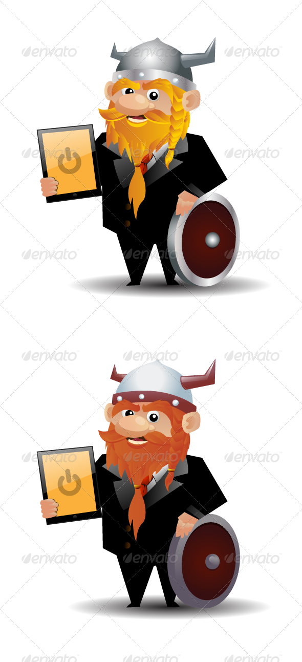 GraphicRiver Modern Viking In Suit 1295395
