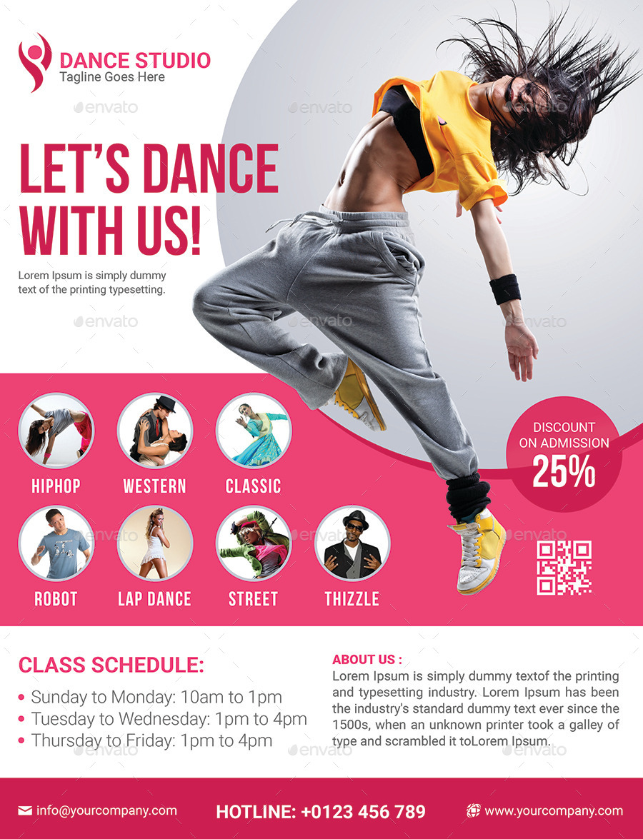 dance studio flyer template dance studio flyer