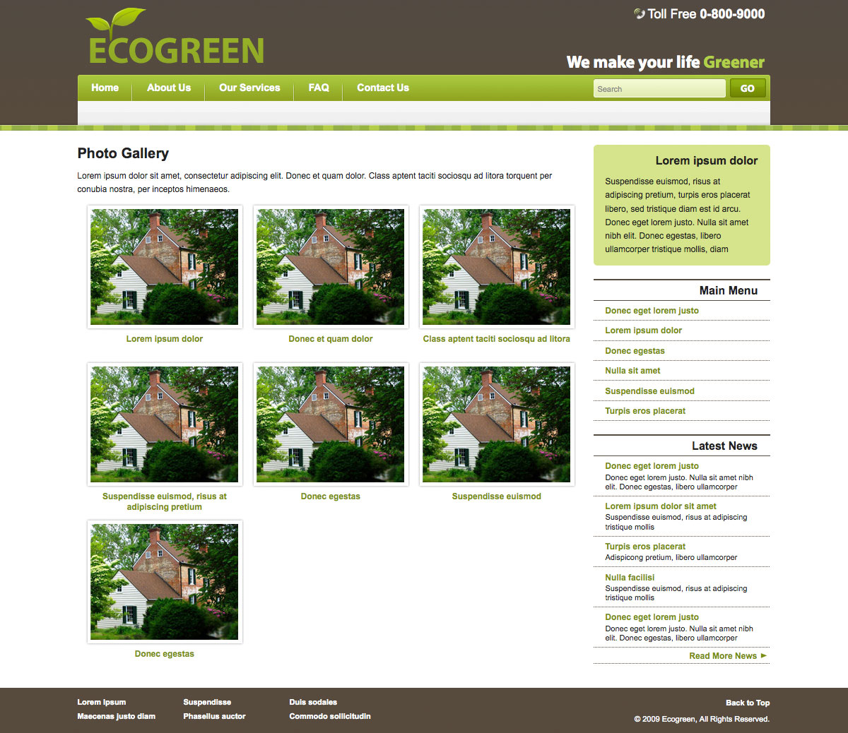 Down to Earth Template for Green Company - Down to Earth Template for Green Company - Photo Gallery