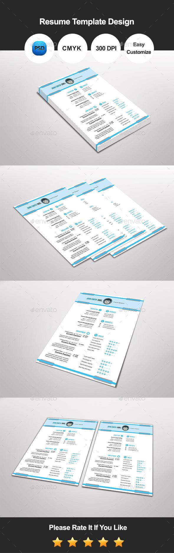 Prevatic Resume Template Design