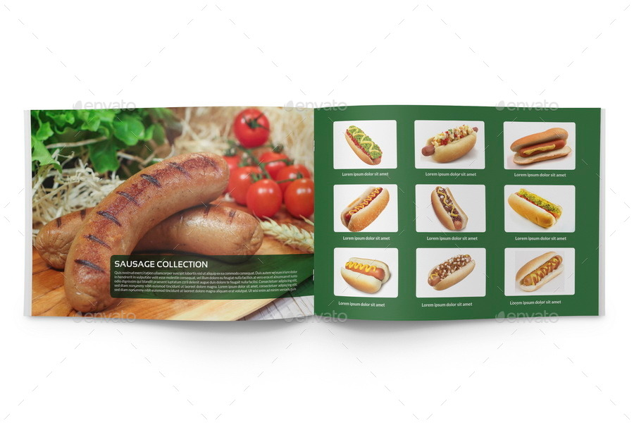 Food Products Catalog Brochure Template 24 Pages by OWPictures – Product Brochure Template