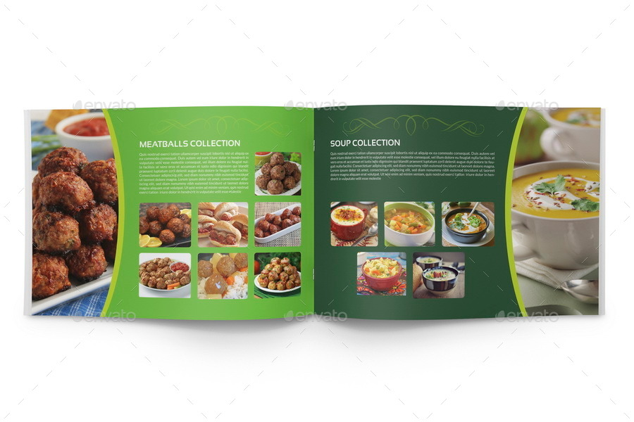Food Products Catalog Brochure Template 24 Pages By