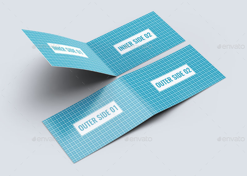 Folded Business Card Mock-Up by L5Design | GraphicRiver