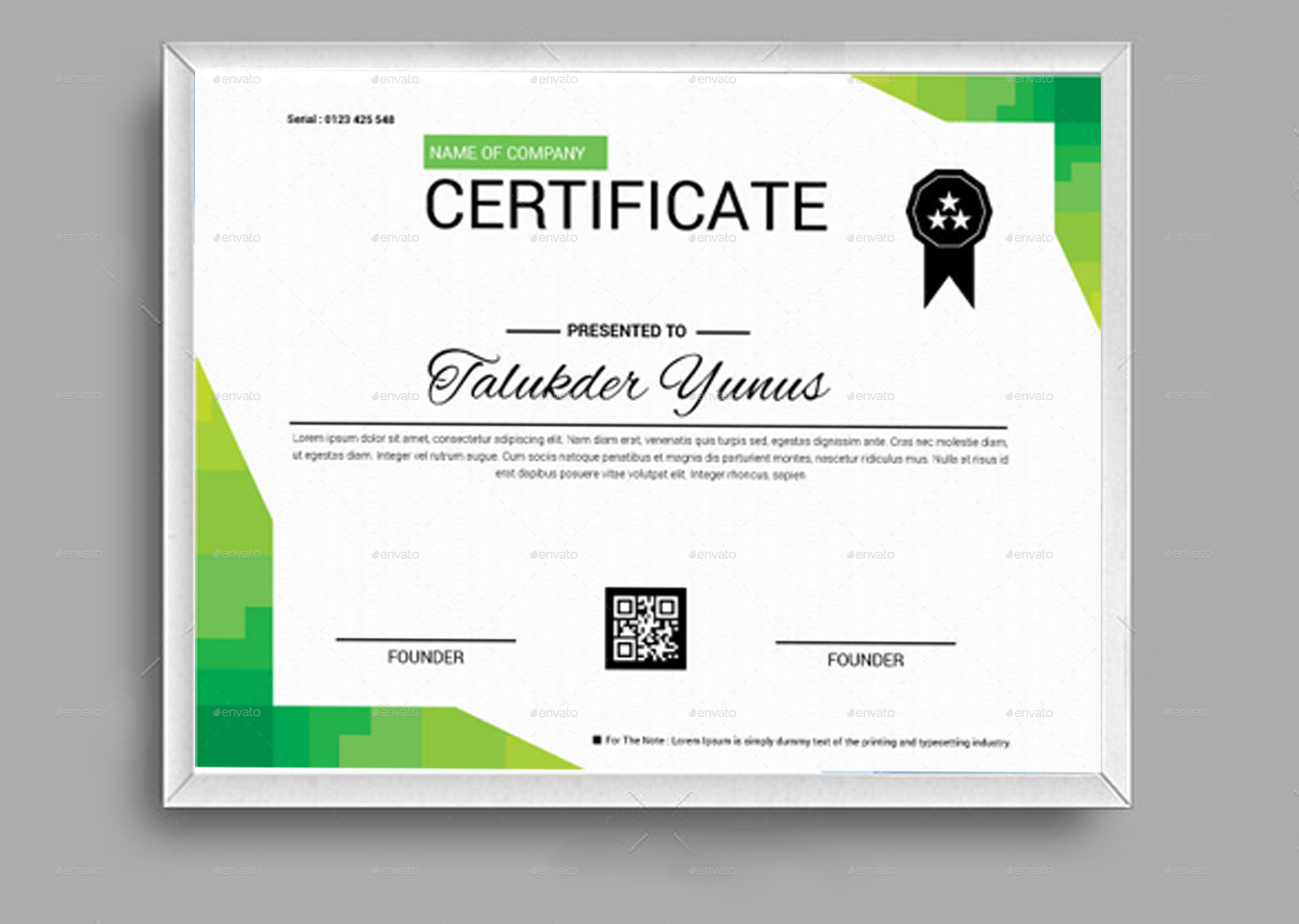 Certificate By Expomedia Graphicriver