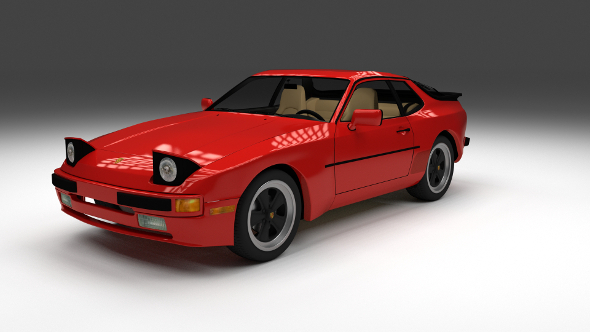 Porsche 944 with interior - 3DOcean Item for Sale