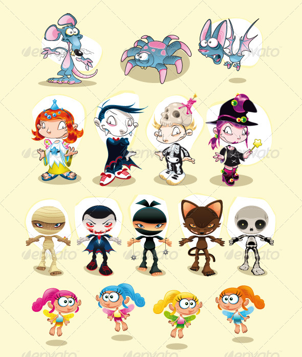 GraphicRiver Halloween and Carnival characters 155677
