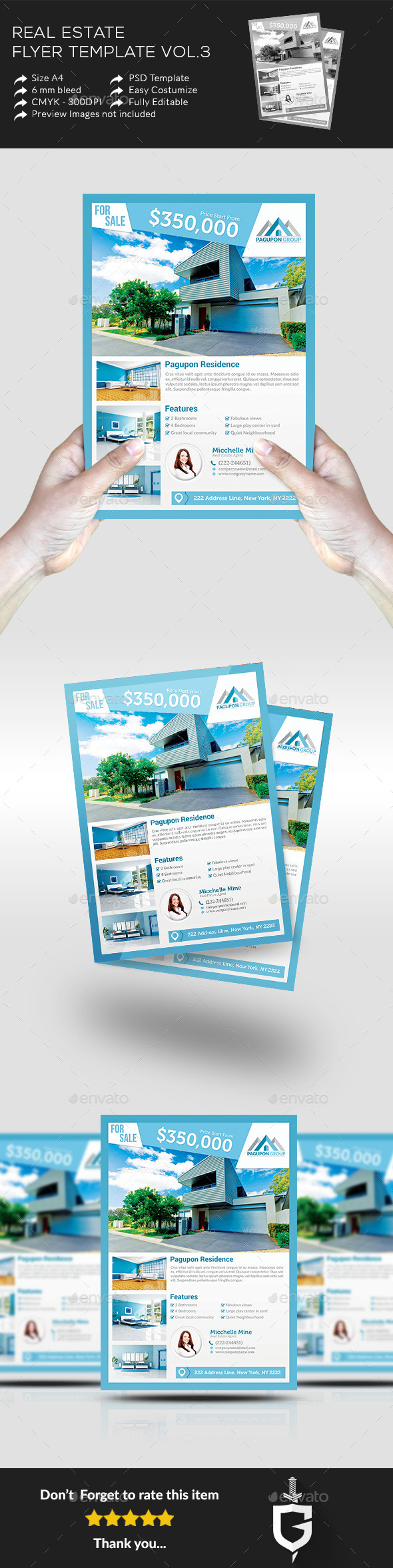 Real Estate Flyer Template Vol.3