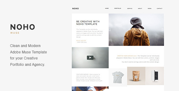 NOHO - Creative Agency Portfolio Muse Template