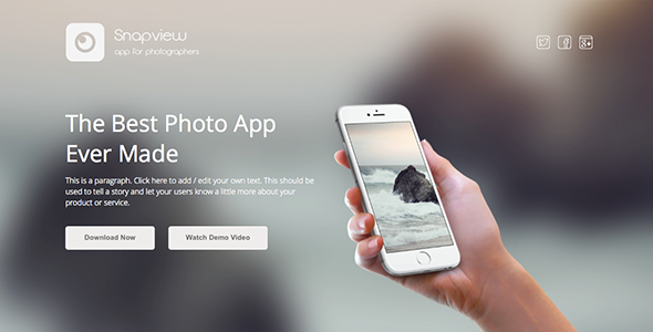 Snapview - Mobile App Landing Template