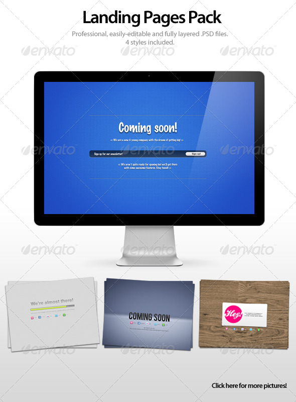 GraphicRiver Landing Pages Pack 155724