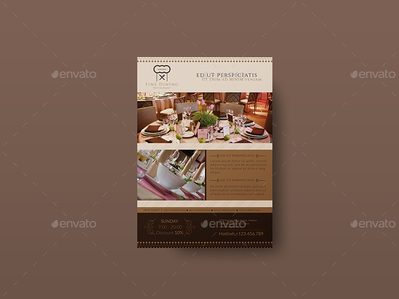fine dining menu template free - fine dining restaurant flyer template by wutip2