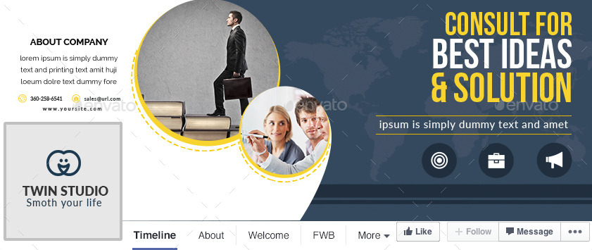 Corporate Facebook Cover Photo Design by TwinGraphic | GraphicRiver