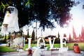 ceremony outdoors. Decoration of celebrations. Love. Wedding planer