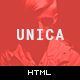 Unica Personal One-page HTML5 Template - ThemeForest Item for Sale