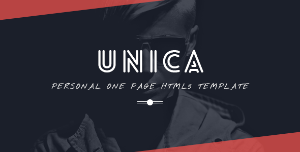 23. Unica Personal One-page HTML5 Template