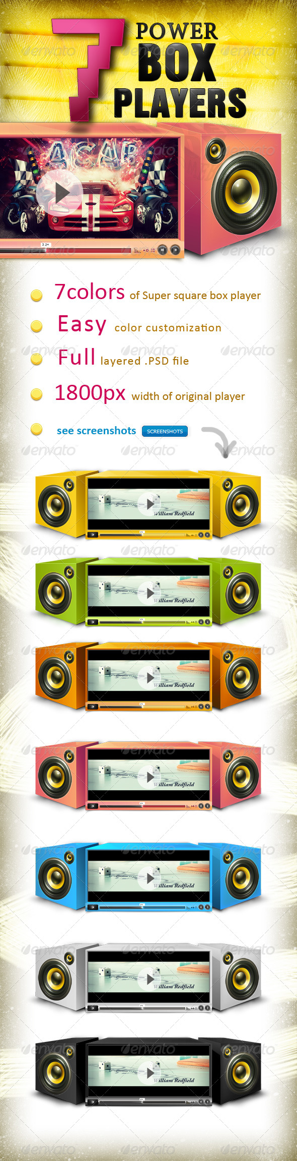 GraphicRiver 7 powerBOX players 155844