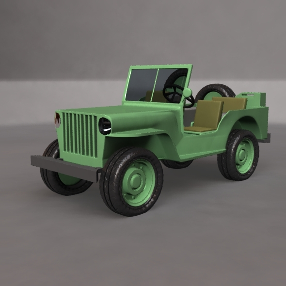 Military jeep - 3DOcean Item for Sale