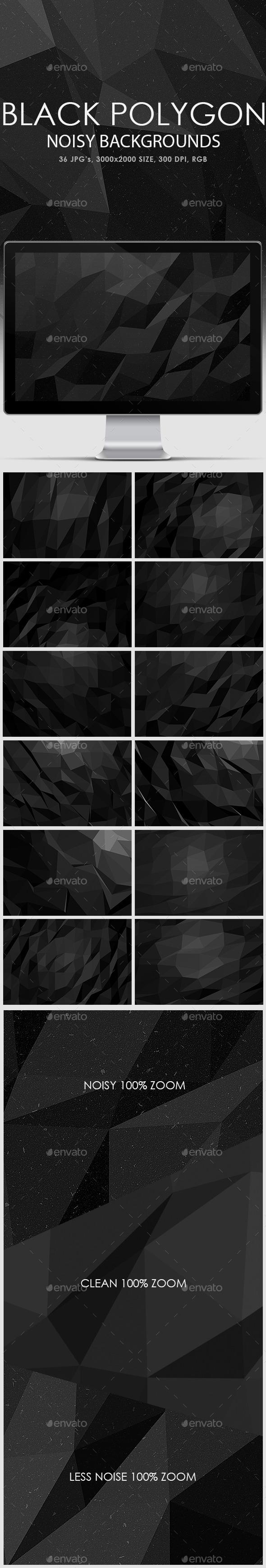 Noisy Black Polygon Backgrounds