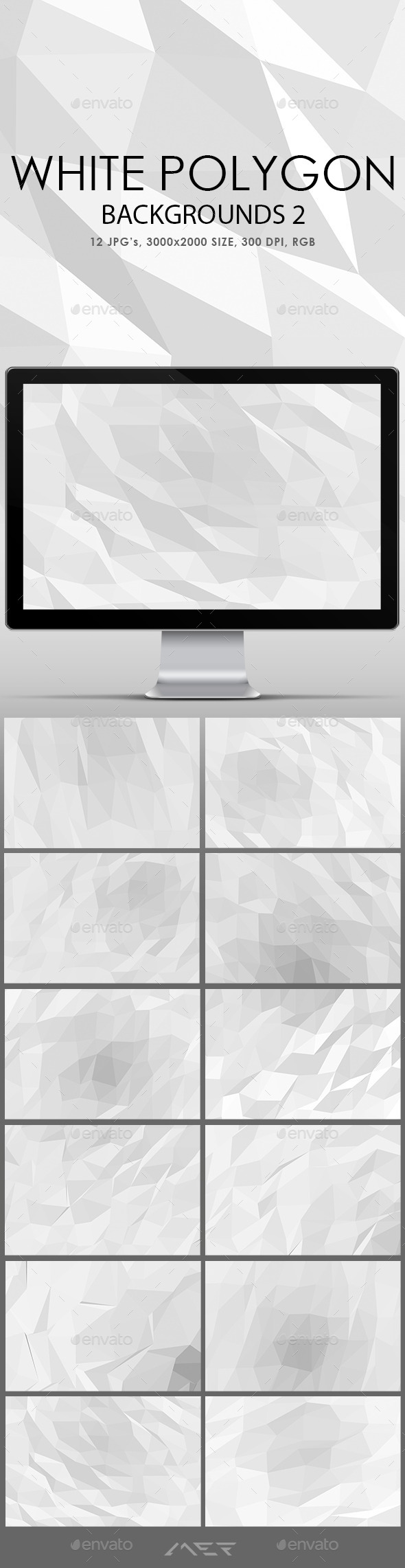 White Polygonal Backgrounds 2