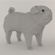 The Pug dog Low poly