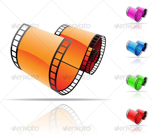 reels of film. film reels - GraphicRiver Item