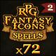 72 RPG Fantasy Spells Icons