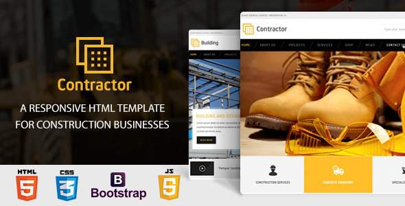 Contractor – Construction, Building HTML Template