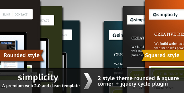 Simplicity - Premium web 2.0 and clean template -