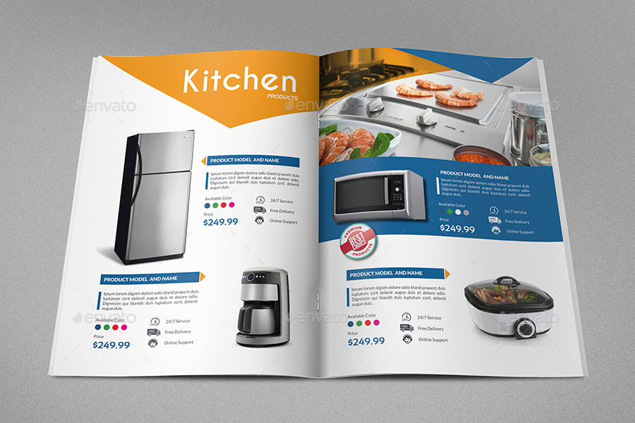 Products catalog brochure template vol2 24 pages by for Product brochure template