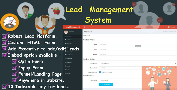 Lead Tracker or Contact with Advance Form Builder - CodeCanyon Item for Sale