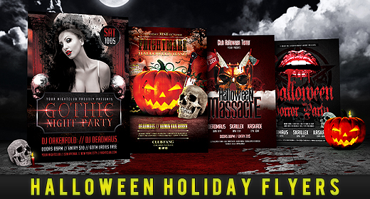 Halloween Holiday Flyers